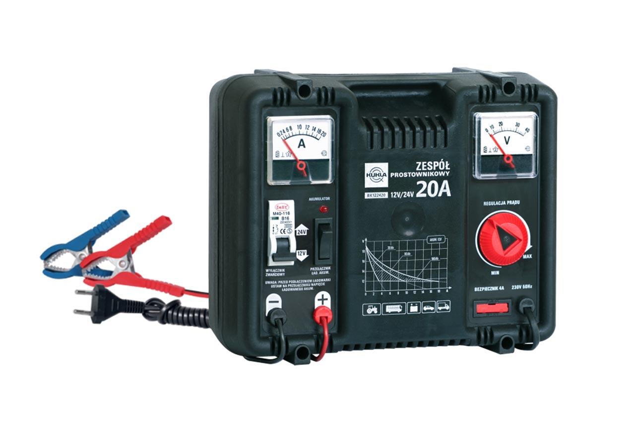 Nabíjačka auto/moto batérií BK 5 12/24  20A Hodiny 20A