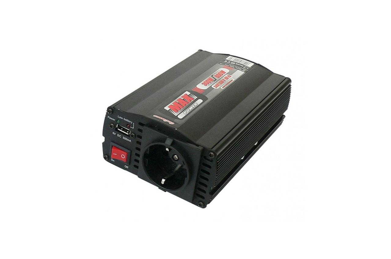 Menič napäta s USB 24V/230V 300W/600W