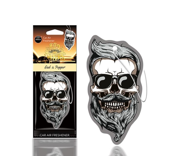 Osviežovač vzduchu AROMA DIA DE LOS MUERTOS Oud&Pepper Skull