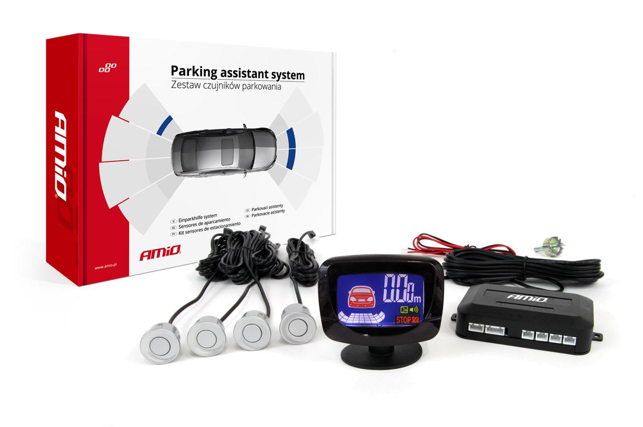 Asistenty parkovania LED-GRAF 4 senzory strieborné