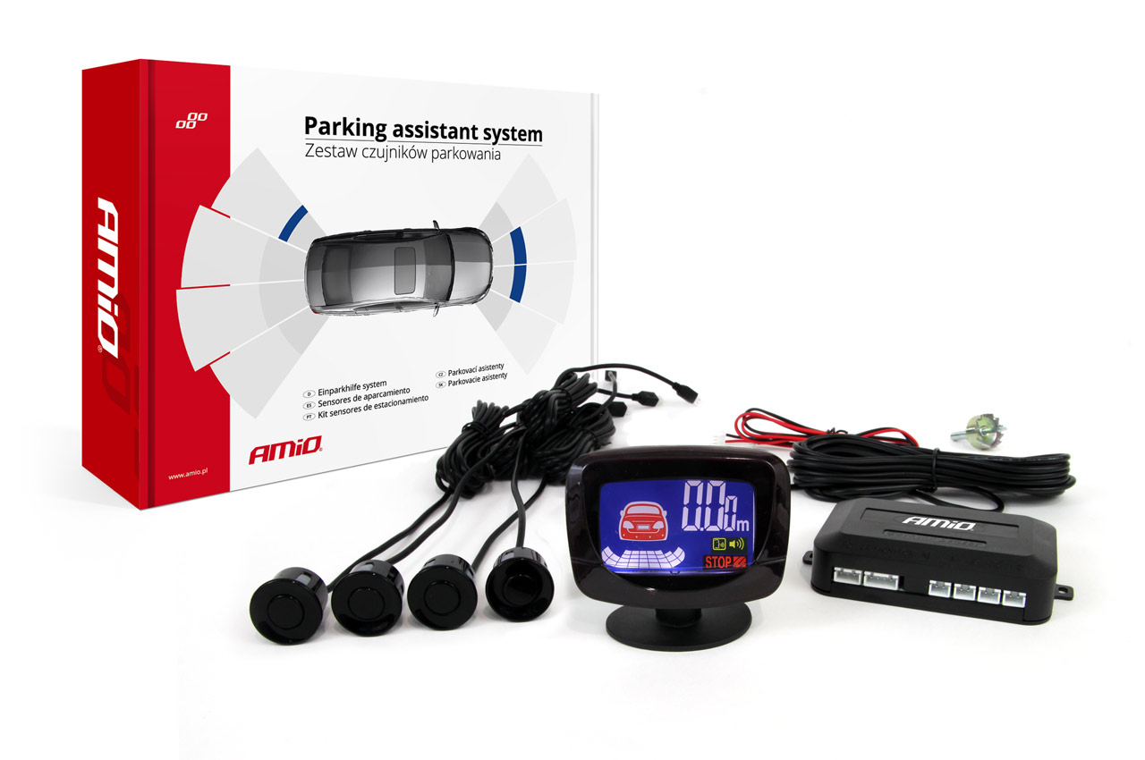 Asistenty parkovania LED-GRAF 4 senzory čierne