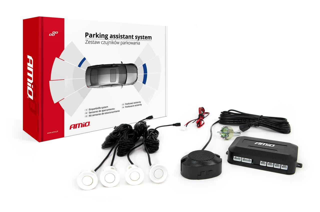 Asistenty parkovania Buzzer 4 senzory biele