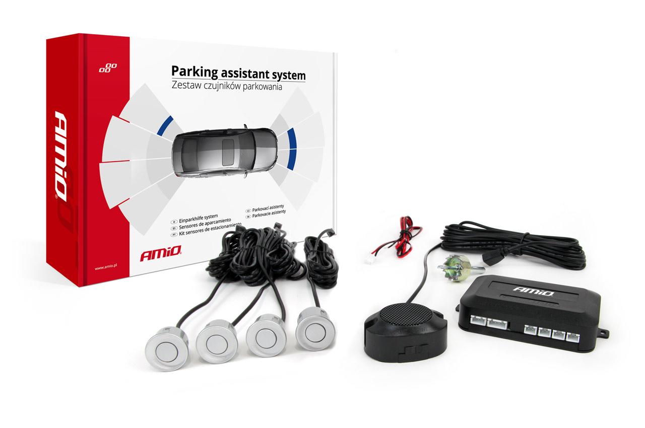 Asistenty parkovania Buzzer 4 senzory strieborné