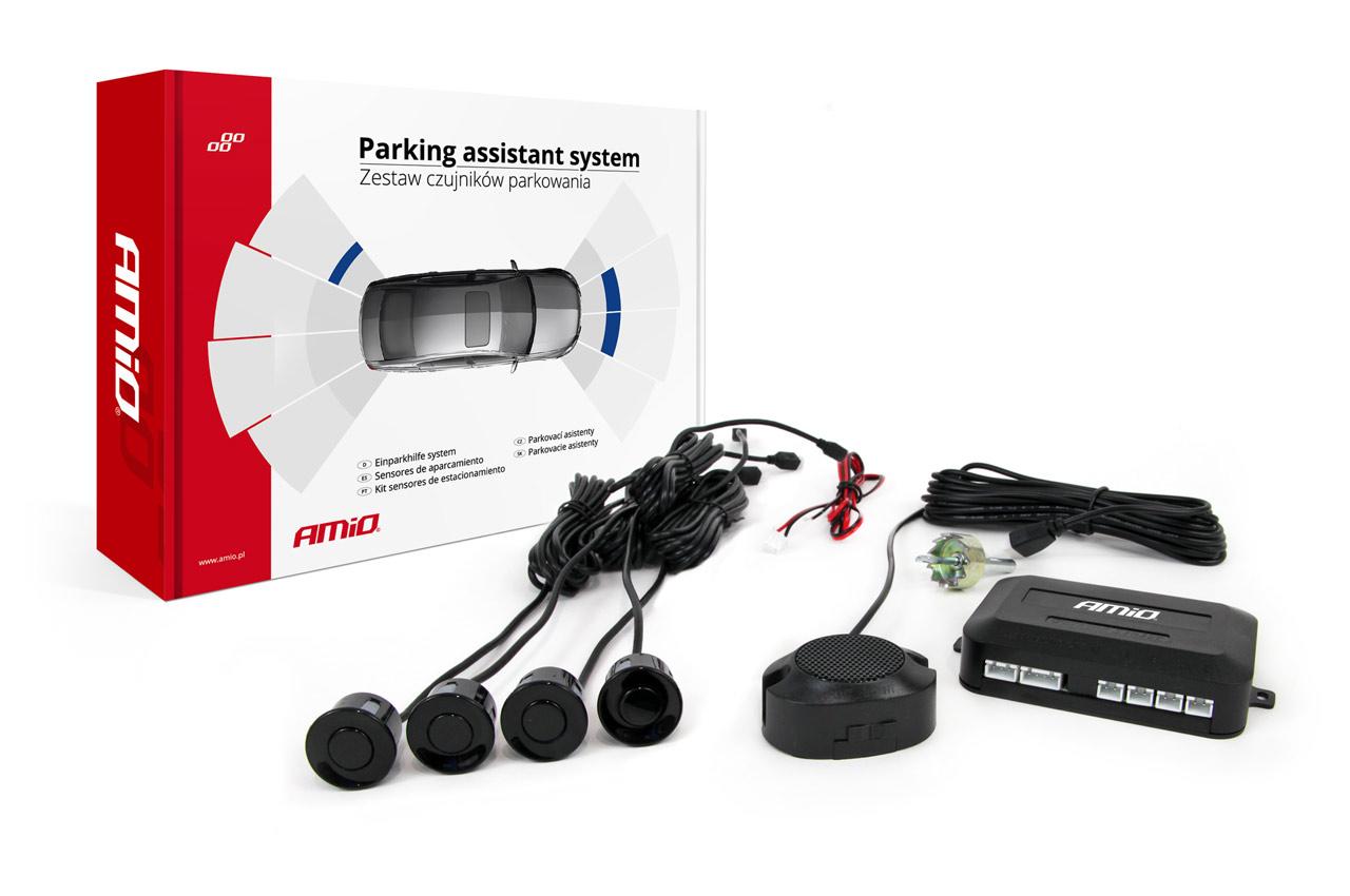 Asistenty parkovania Buzzer 4 senzory čiernee