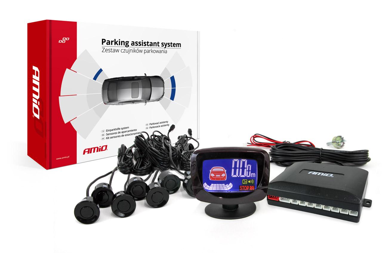 Asistenty parkovania LED-GRAF 8 senzorov čierne
