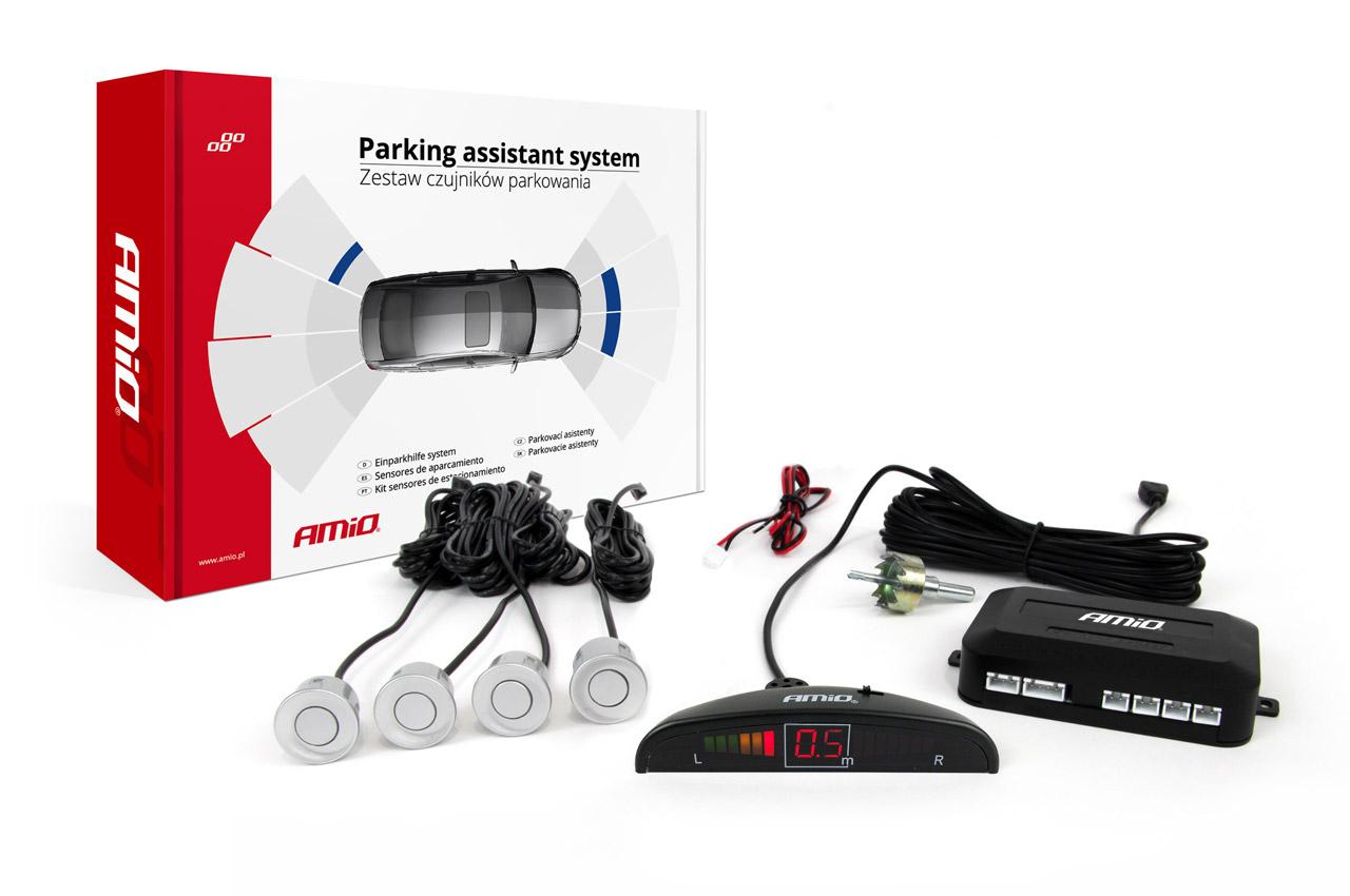 Asistenty parkovania LED 4 senzory strieborné