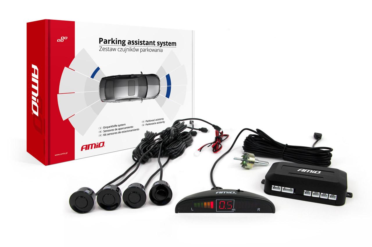 Asistenty parkovania LED 4 senzory čierne