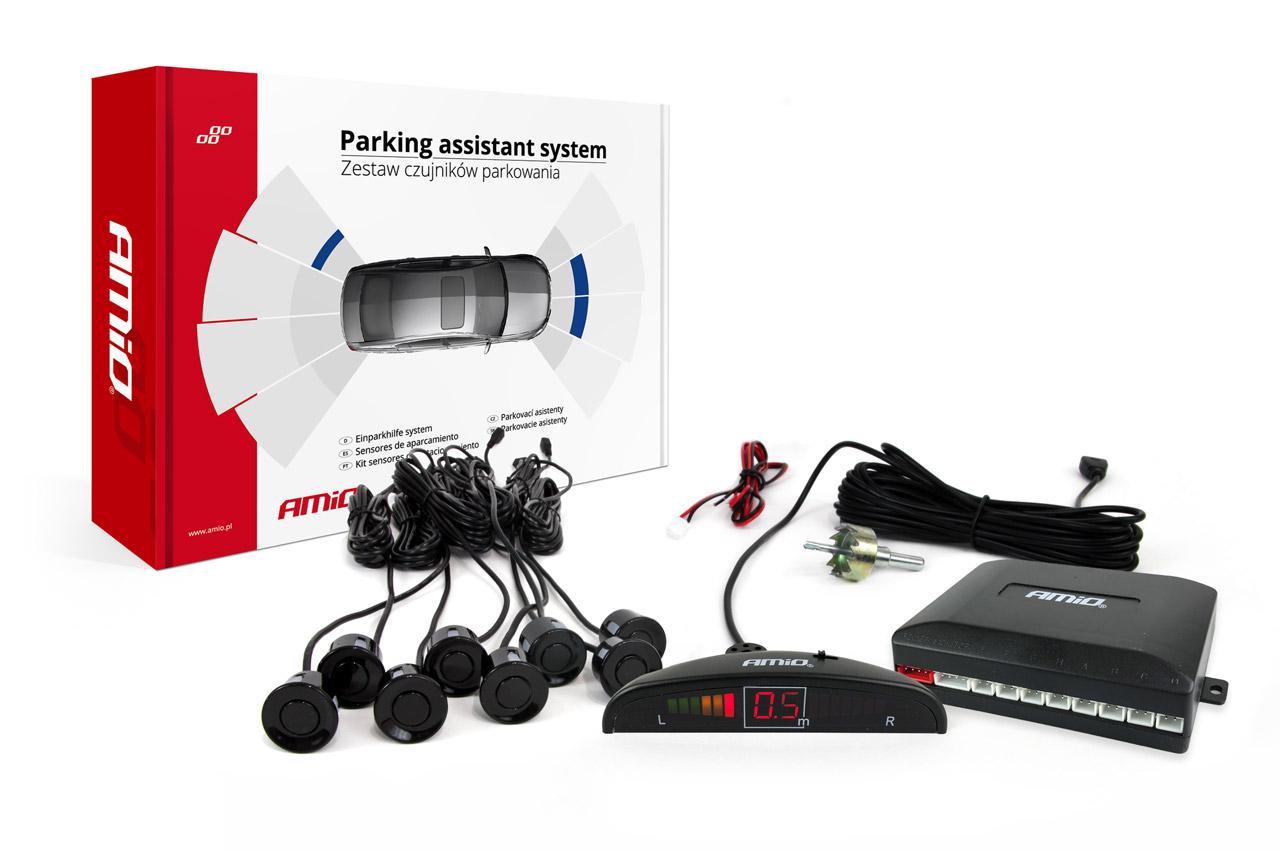 Asistenty parkovania LED 8 senzorov čierne