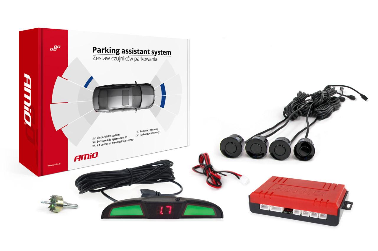 Asistenty parkovania LED COB 4 senzory čierne