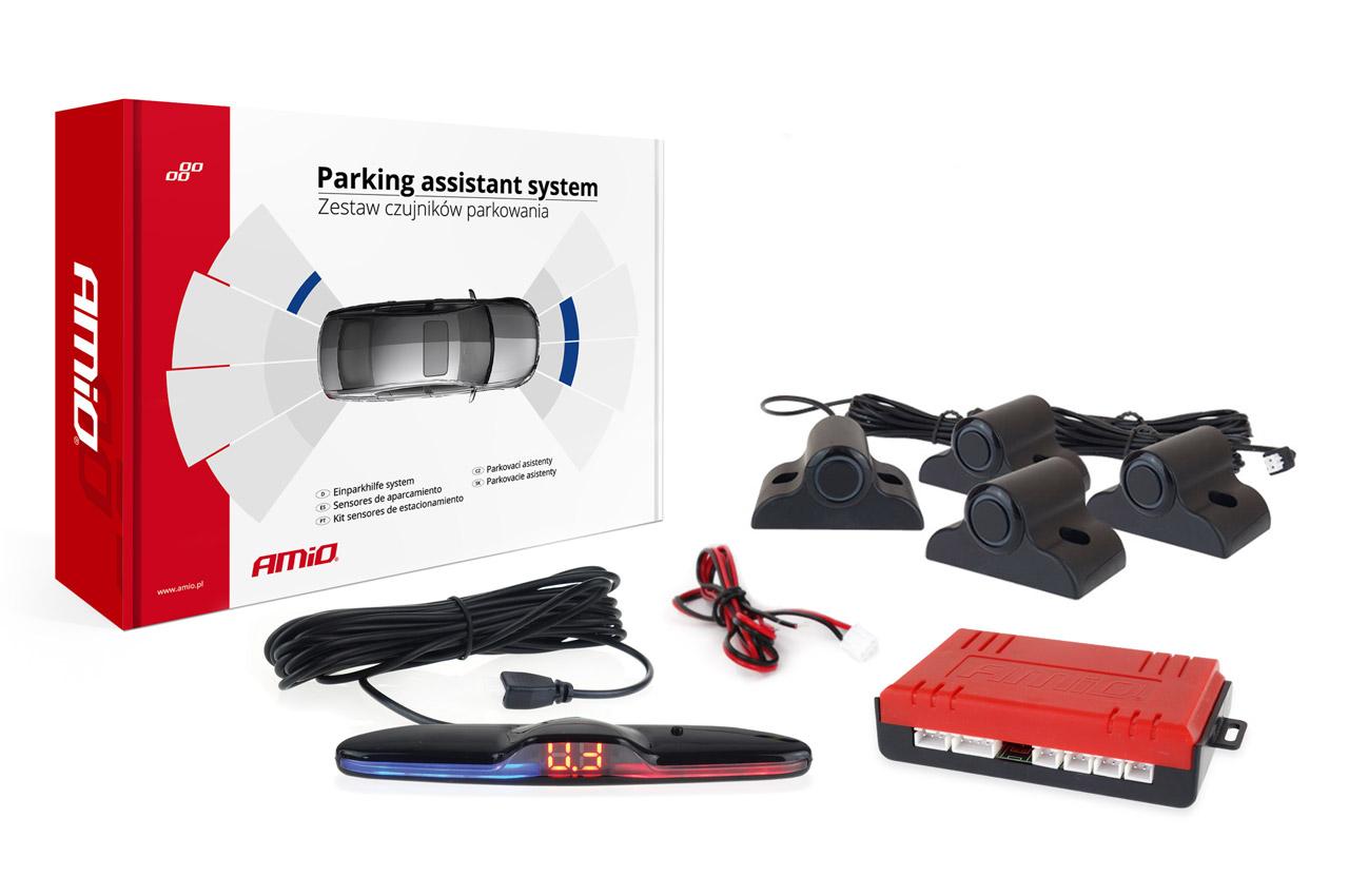 Asistenty parkovania LED 4 senzory čierne 19mm TRUCK