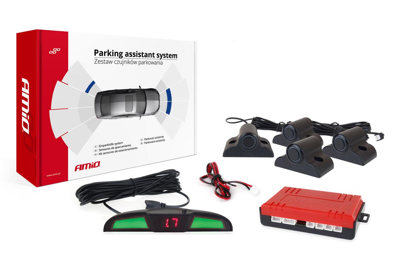 Asistenty parkovania LED COB 4 senzory čierne 19mm TRUCK