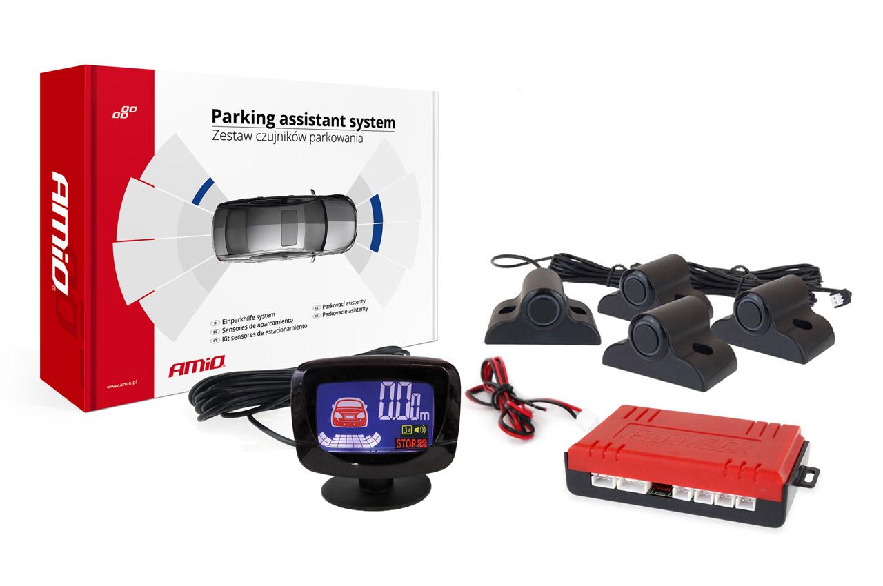 Asistenty parkovania LED-GRAF 4 senzory čierne TRUCK 19mm