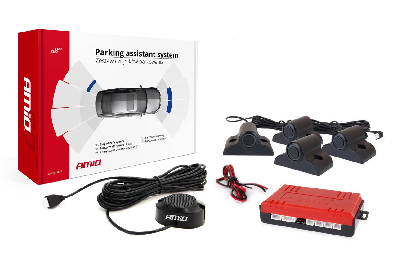 Asistenty parkovania Buzzer 4 senzory čiernee TRUCK 19mm