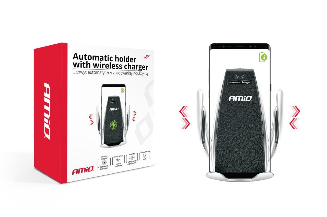 Automatický držiak telefónu s bezdrôtovým indukčným nabíjaním W-1