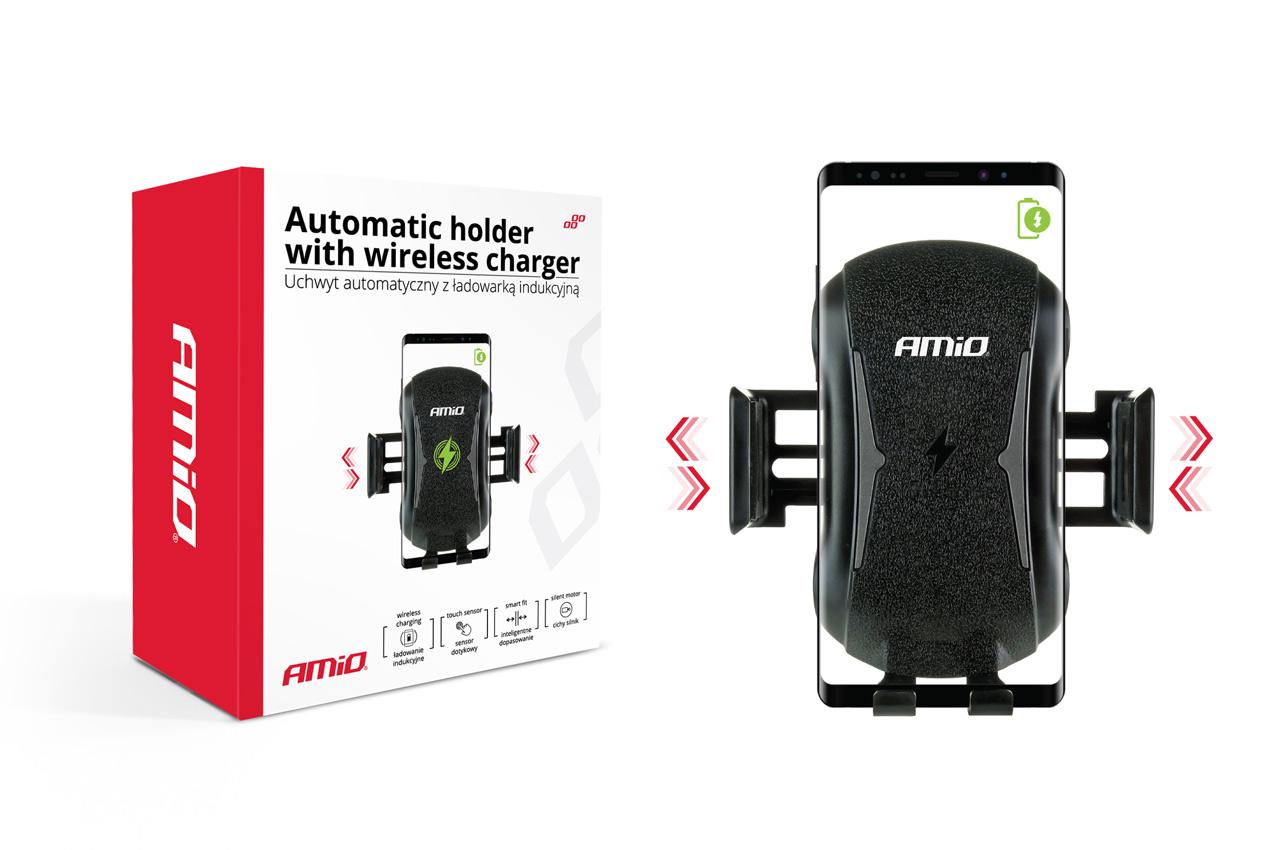 Automatický držiak telefónu s bezdrôtovým indukčným nabíjaním W-2