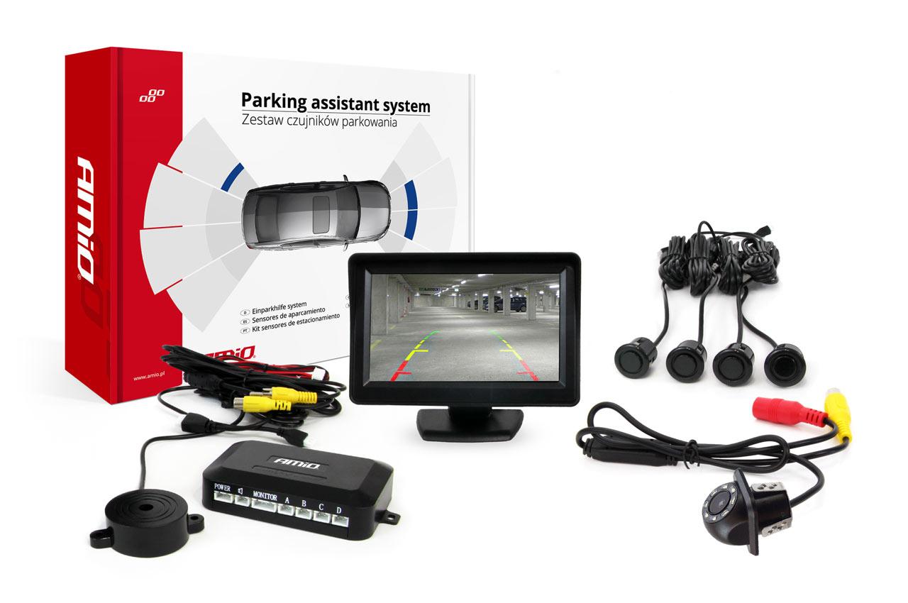 """Parkovací asistent TFT 4,3"""" s kamerou HD-305 LED GOLD"""