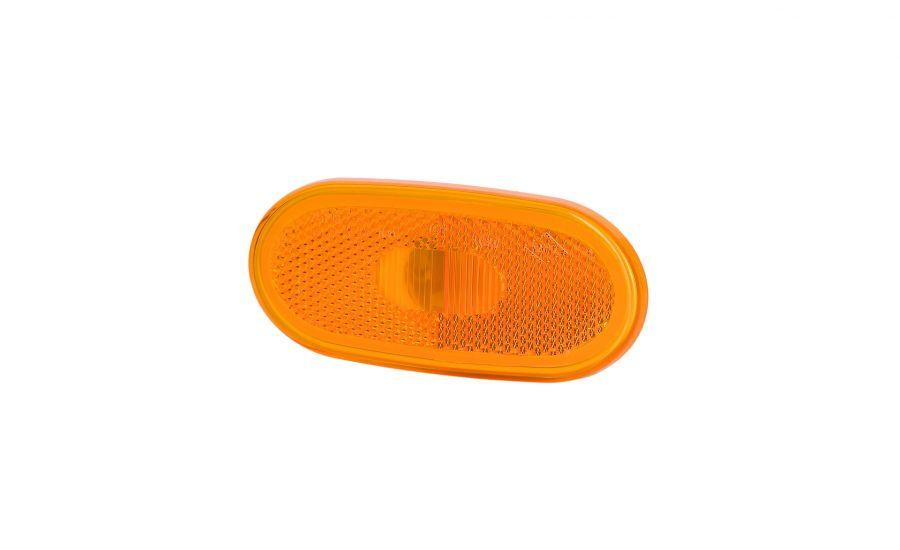 Svetlo obrysové oranžové oválne s odrazkou, HOR 59