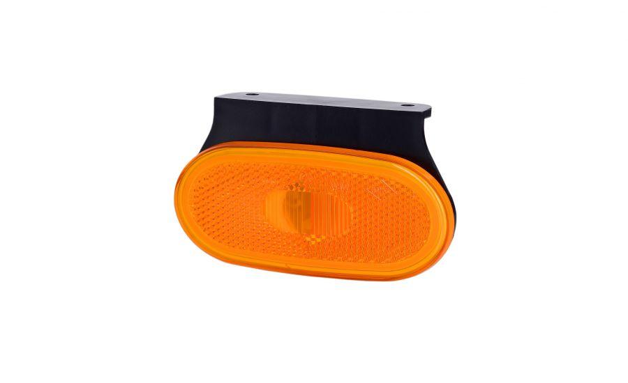 Svetlo obrysové oranžové oválne s odrazkou, HOR 59, závesné