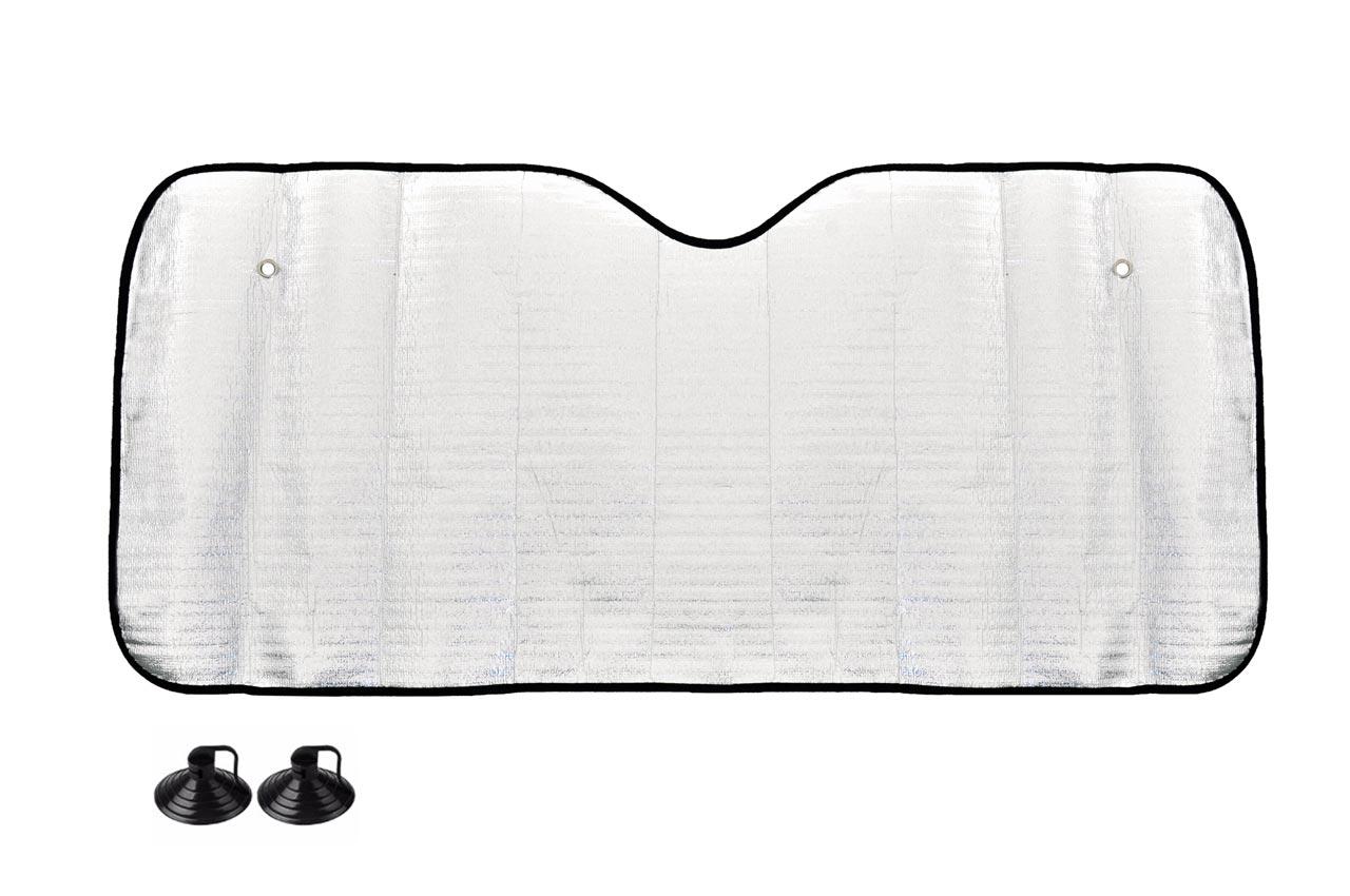 Clona na predné sklo strieborná - 130x60 cm