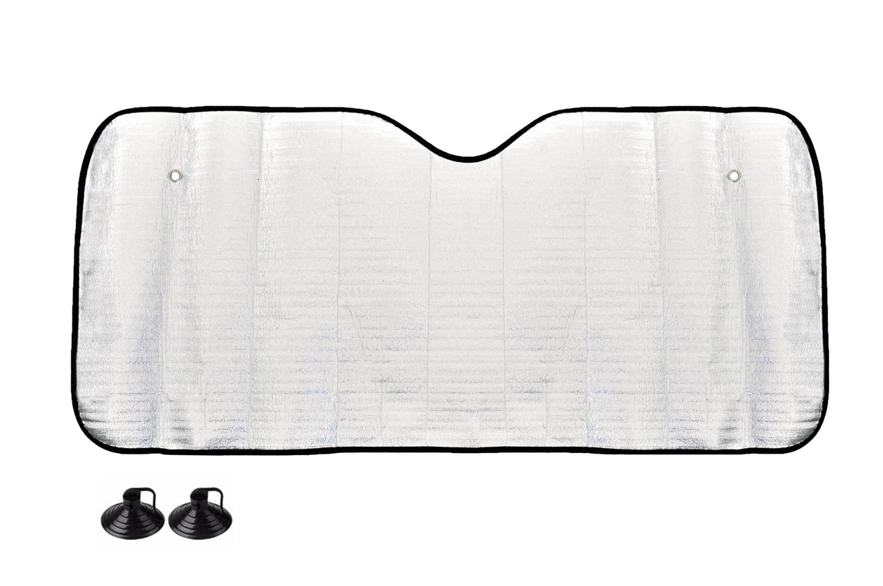 Clona na predné sklo strieborná - 150x80 cm